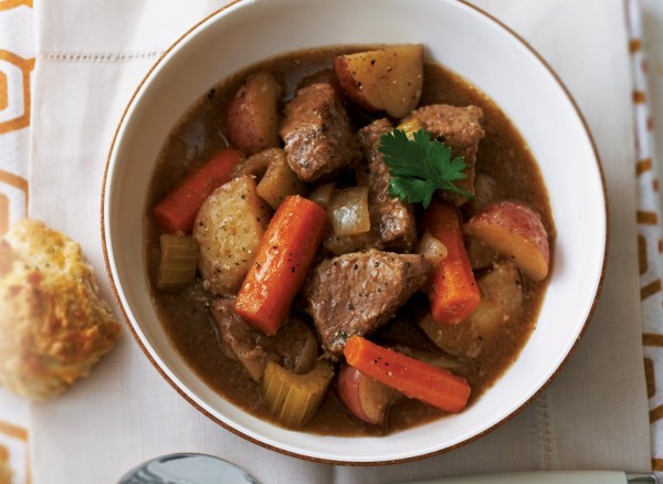 Image of Oven-Baked Beef Stew With Biscuits