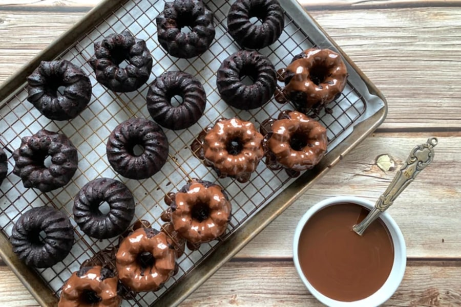 Coconut Chocolate Brownie Bundts