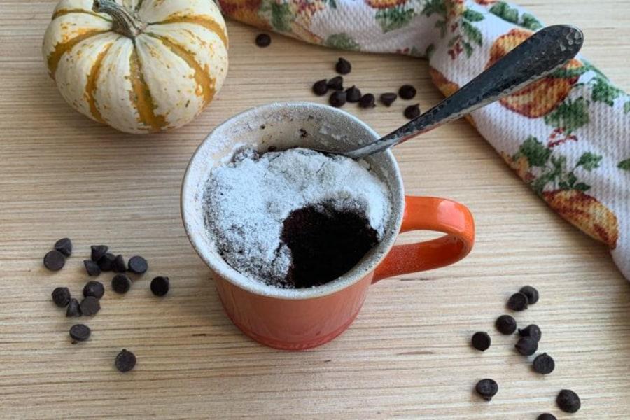 Image of Chocolate Pumpkin Mug Cake