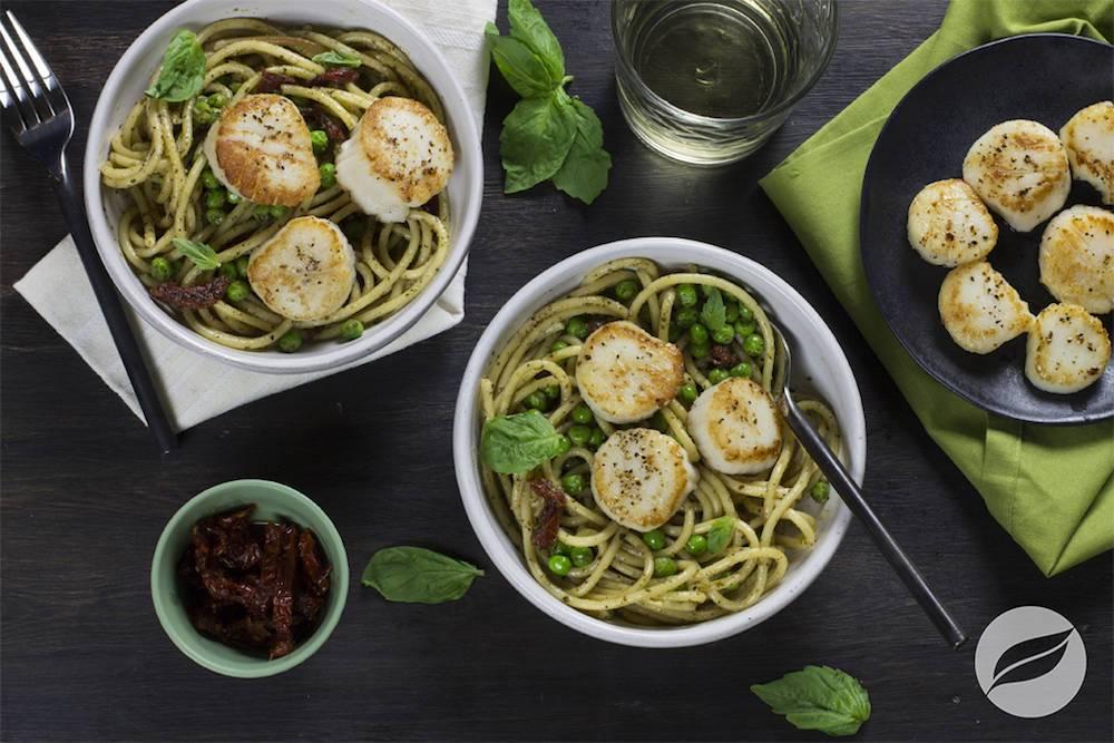 Image of Pesto Pasta with Scallops