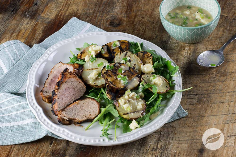 Image of Rodeo Pork Tenderloin with Grilled Potato Salad