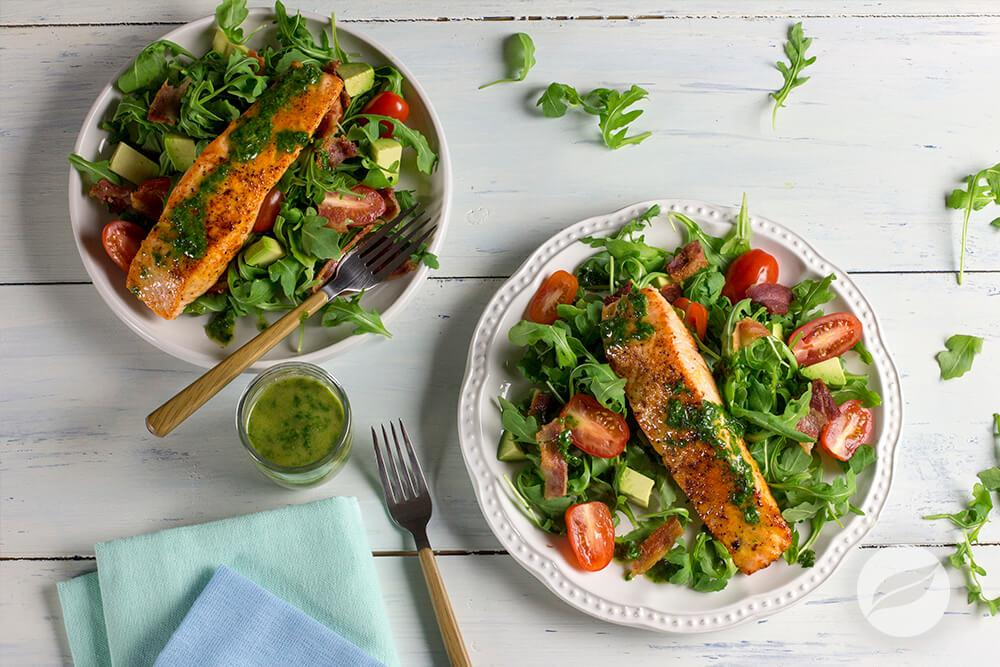 Image of BBQ Salmon BLT Salad