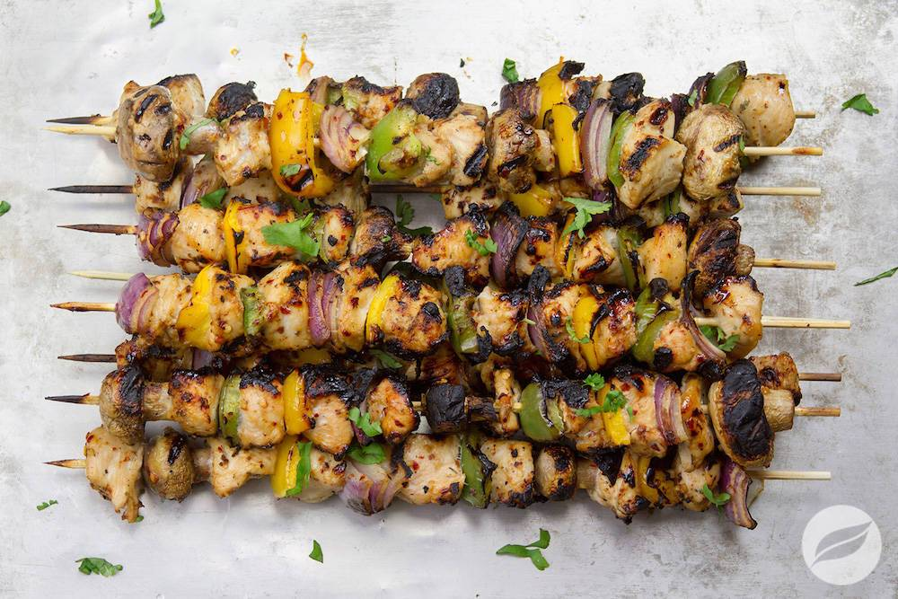 Image of Grilled Asian Ginger Chicken Skewers