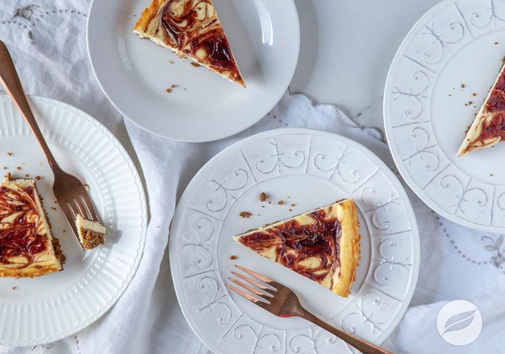 Image of Cranberry Swirl Cheesecake