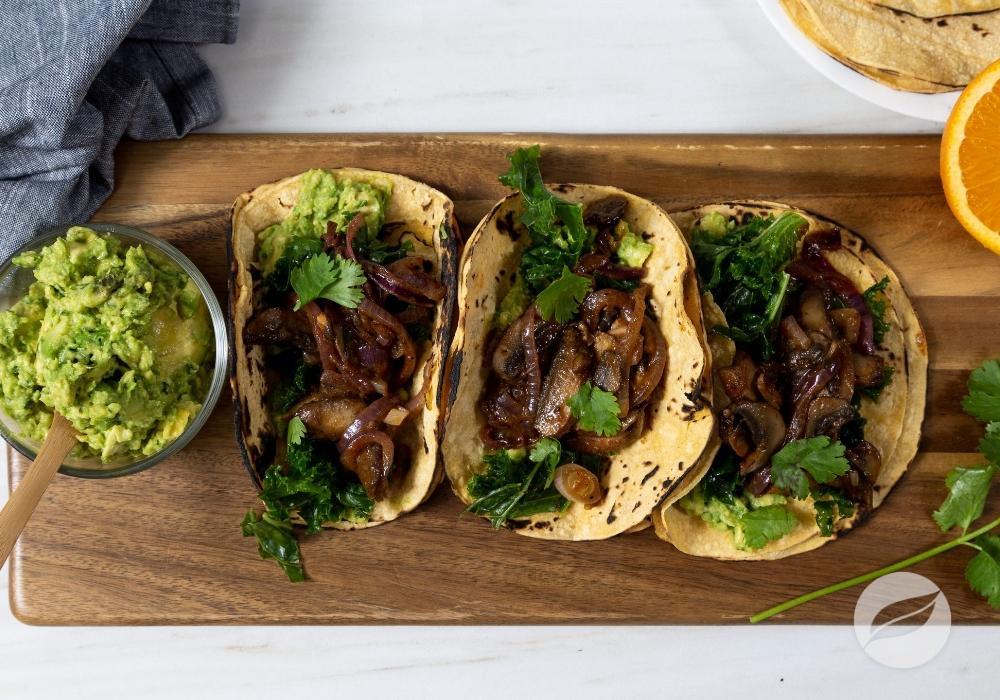 Image of Mushroom & Kale Tacos