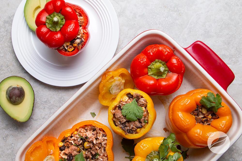 Image of Beef Taco Stuffed Peppers