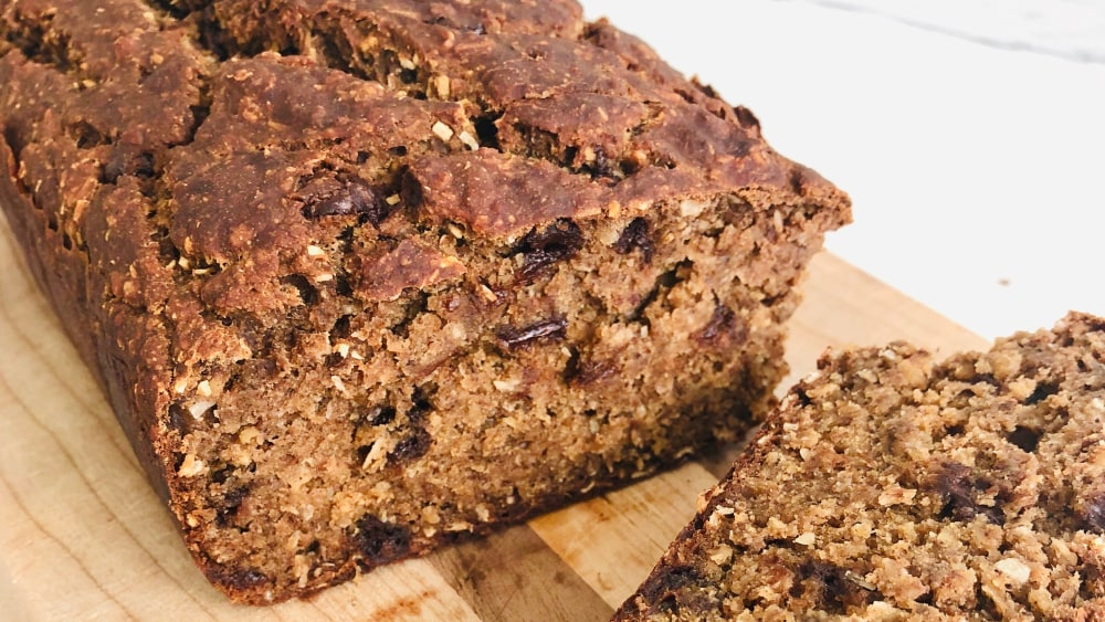 Image of Buckwheat Banana Bread with Plant Protein