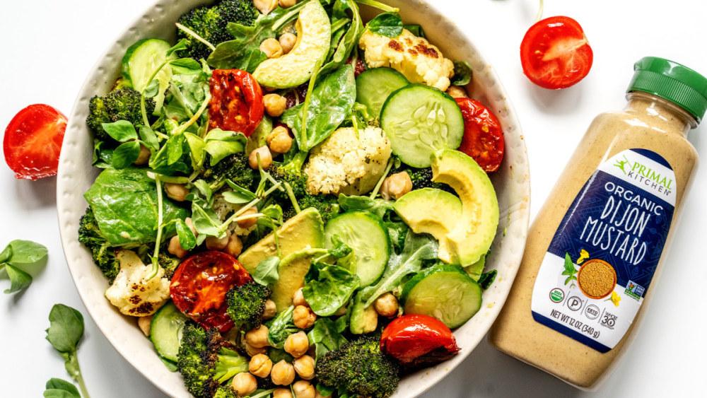 Image of Vegan Chickpea Salad with Dijon Vinaigrette