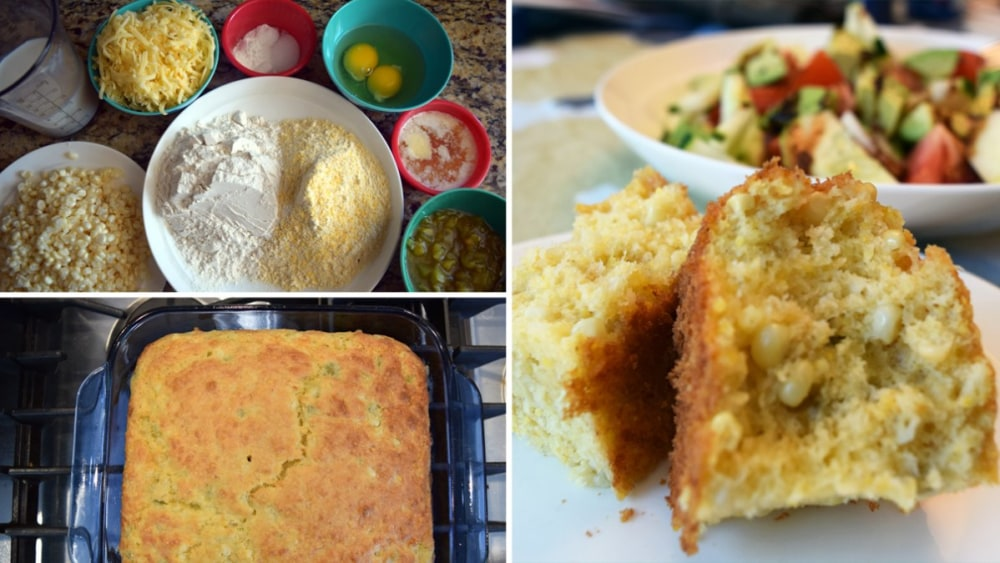 Image of Kicked-Up In Your Face Green Chile Cornbread