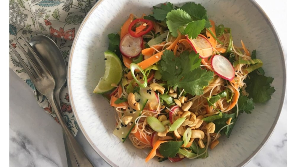 Image of Asian Rice Noodle Salad Recipe