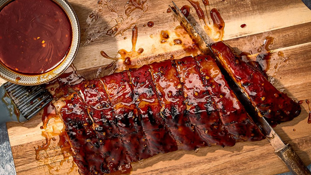 Image of Spicy Teriyaki BBQ Ribs with Ginza Couscous