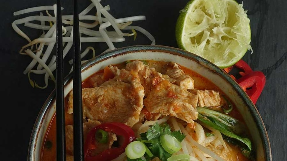 Image of Thai red curry noodle soup