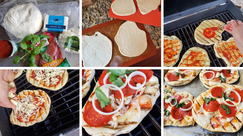 Image of Monterey Jack Grilled Pizza