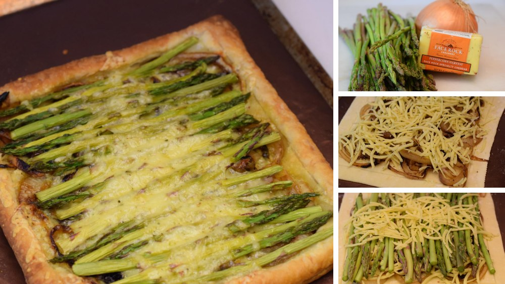 Image of Peppercorn Harvest Asparagus and Caramelized Onion Tart