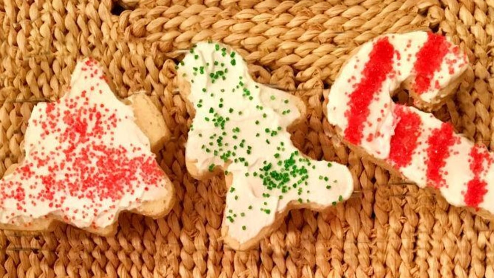 Image of Vegan Cut-Out Almond Shortbread Cookies