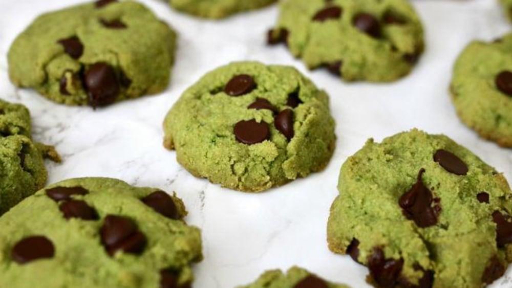 Image of Vegan Matcha Chocolate Chip Cookies