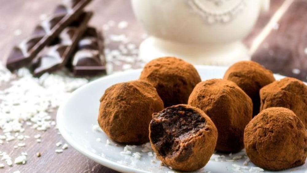 Image of Vegan Holiday Chocolate Truffles