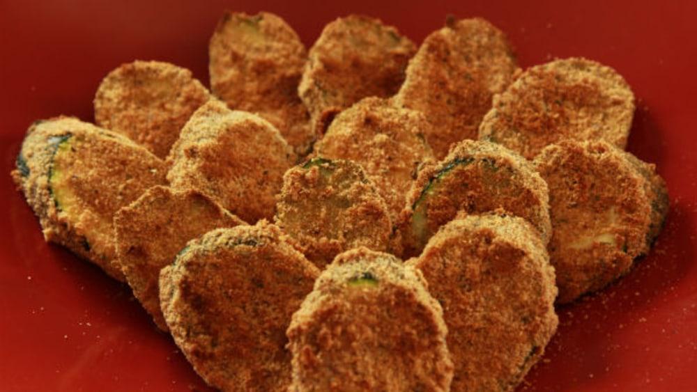 Image of Baked Zucchini Chips Vegan Recipe