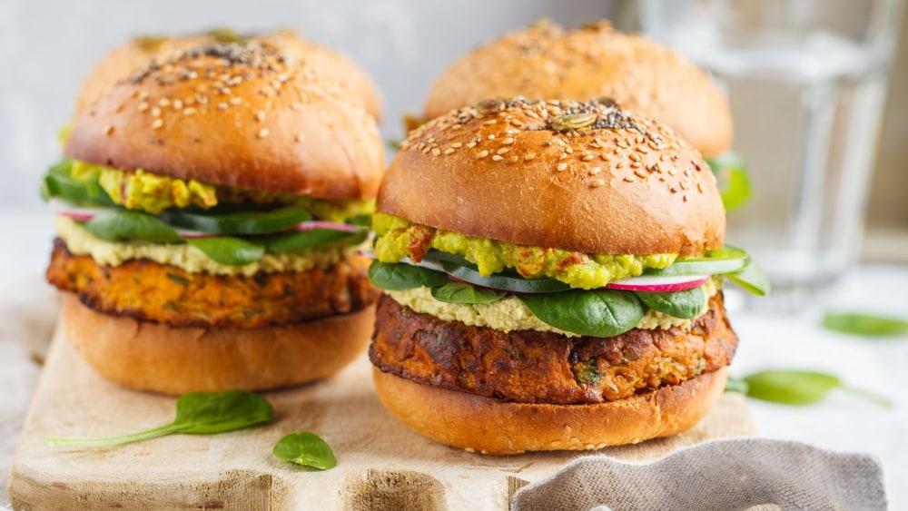 Image of Organic Vegan Black Bean Veggie Burgers