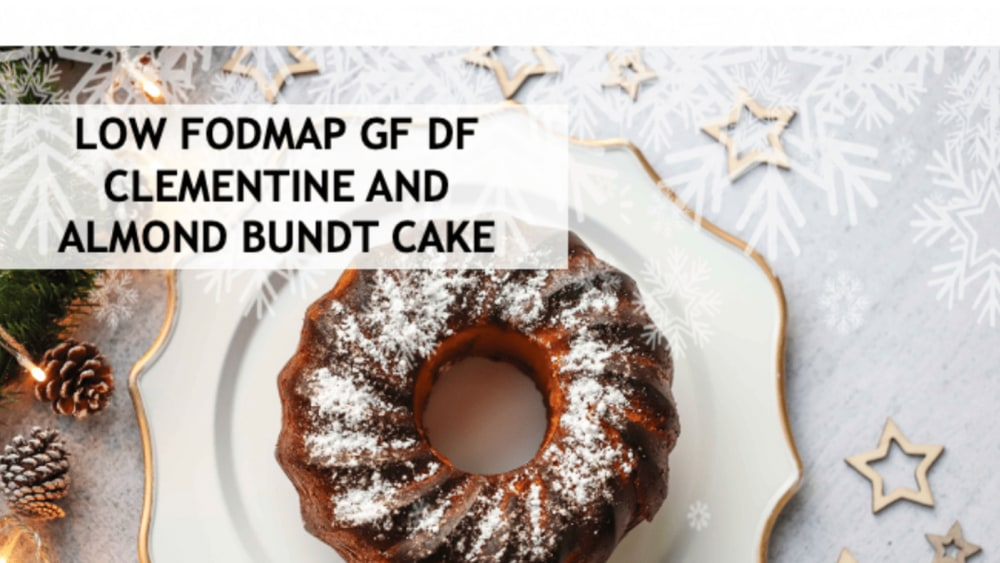 Image of LOW FODMAP GF DF CLEMENTINE AND  ALMOND BUNDT CAKE