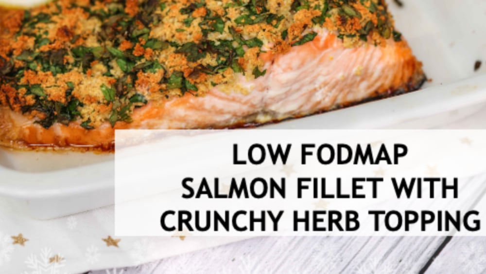 Image of SALMON FILLET WITH CRUNCHY HERB TOPPING