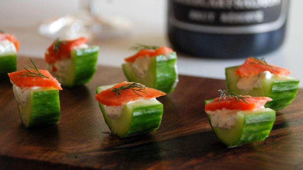 Image of Smoked Salmon Cucumber Bites