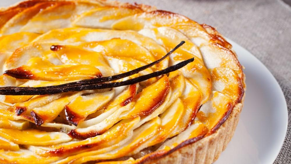 Image of Tarte aux pommes vanillée