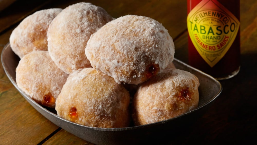 Image of PEPPER JELLY DOUGHNUTS