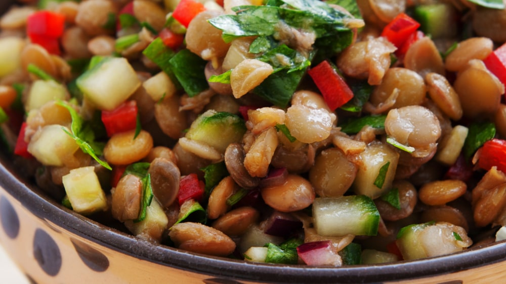 Image of Ensalada de lentejas con verduras
