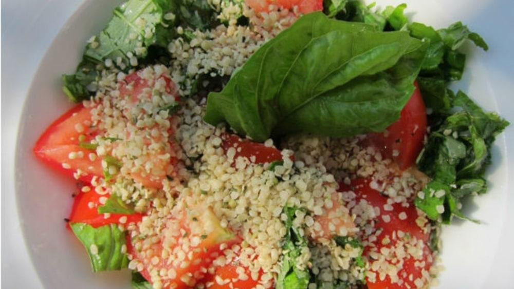 Image of Sicilian Tomato & Basil Salad a la Hemp