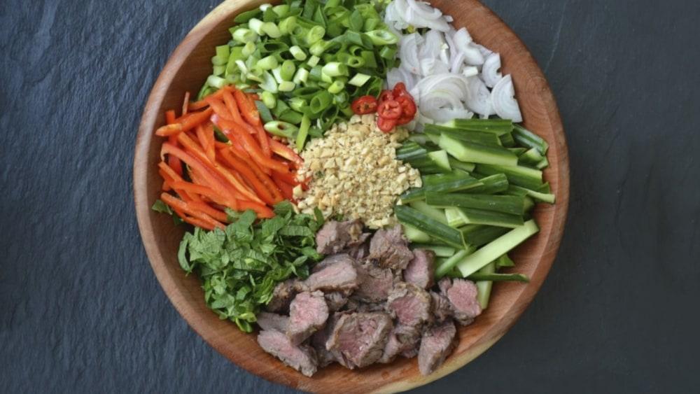 Bison Steak Thai Salad