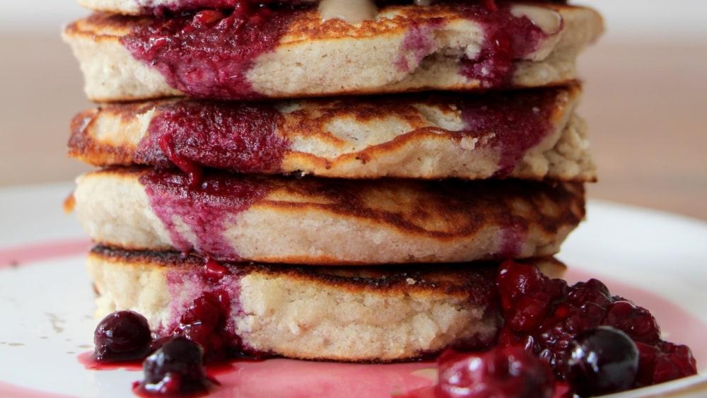 Zuckerfreie Kokos-Pancakes