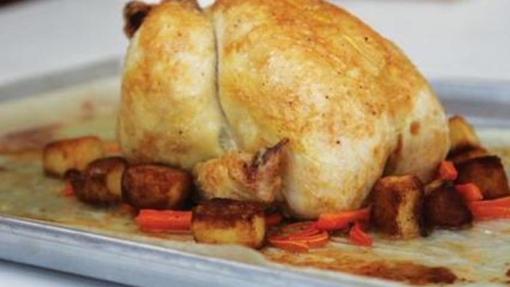 Image of Boneless Roast Chicken with Lemon Pineapple Dipping Sauce