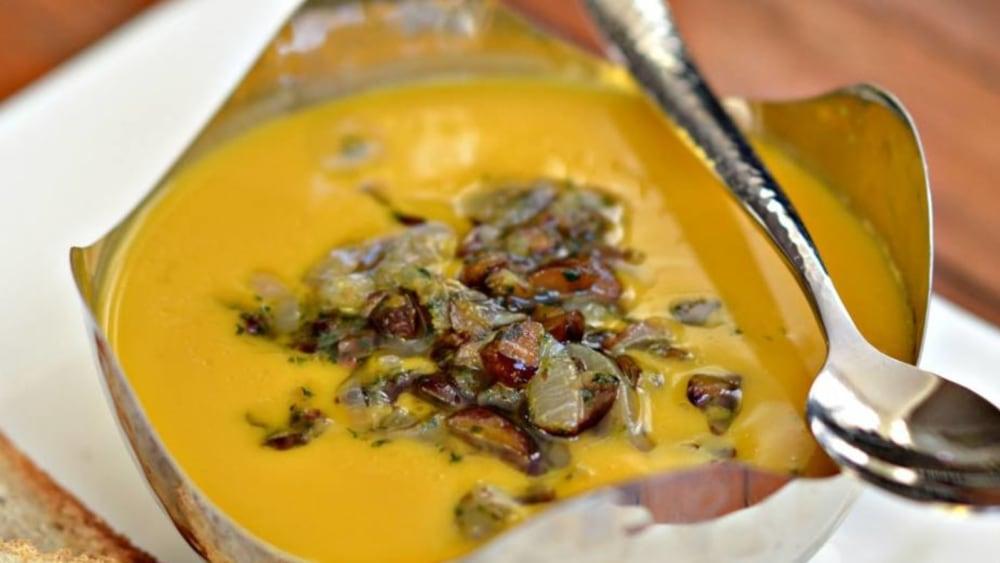 Image of Butternut Squash Roasted Chestnut Soup