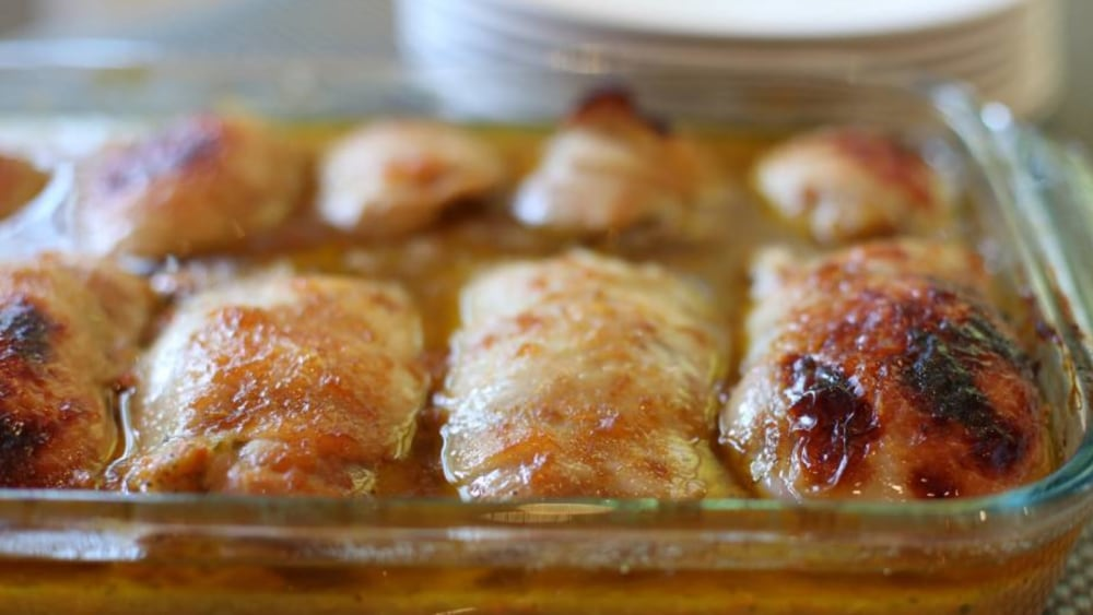 Image of Boneless Chicken Thighs with Vegetable Stuffing