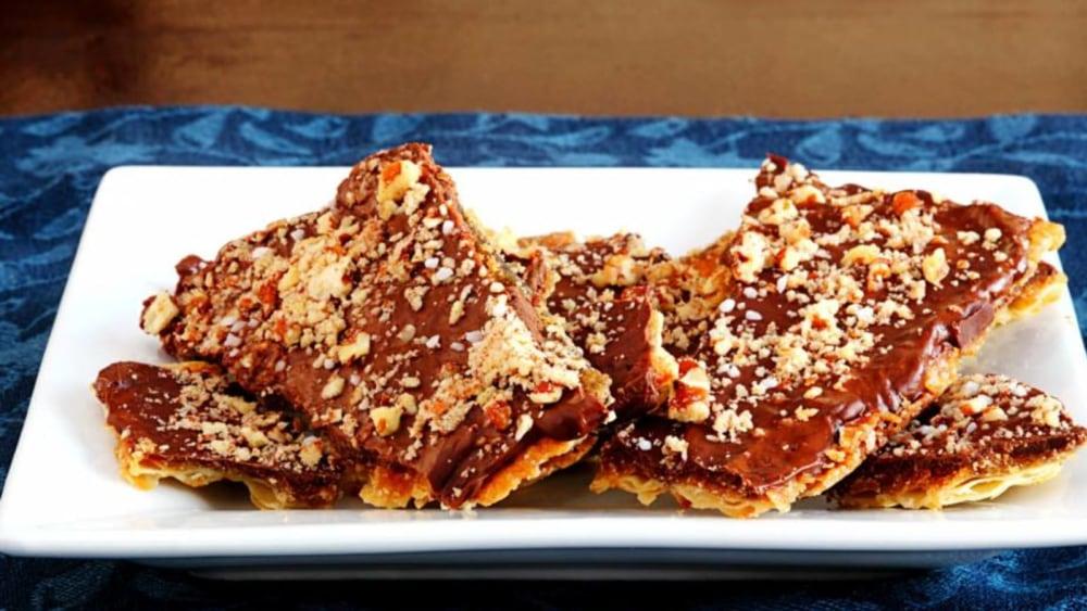 Image of Chocolate Caramelized Matzo Crisps