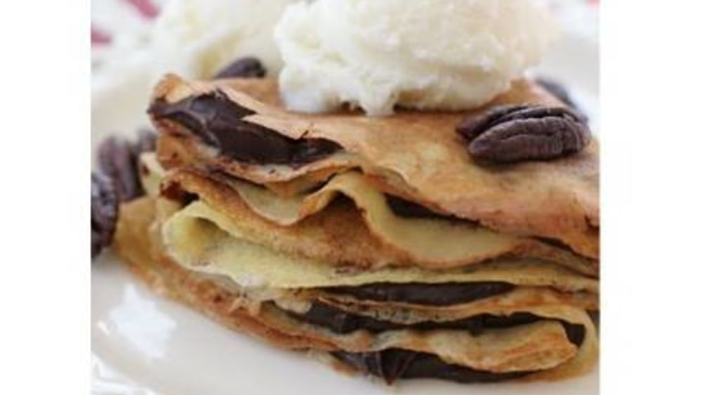 Image of Crepes with Chocolate Crème