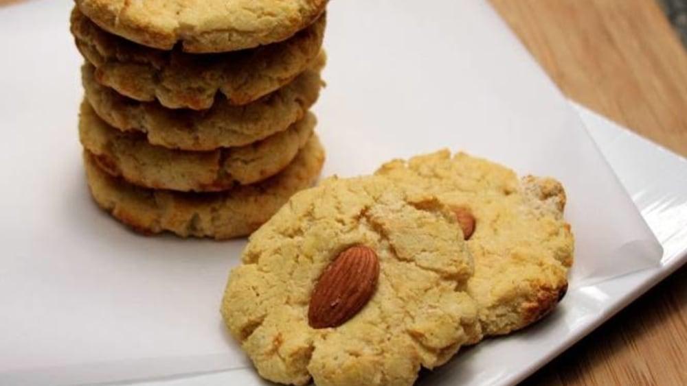 Image of Gooey Almond Cookies