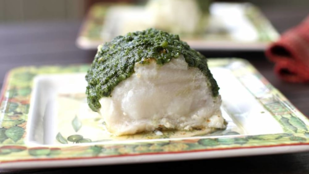 Image of Herb Covered Sea Bass