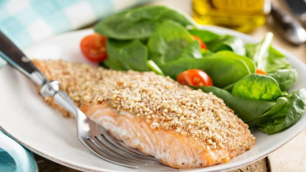 Image of Walnut Crusted Salmon with Garlic Aioli
