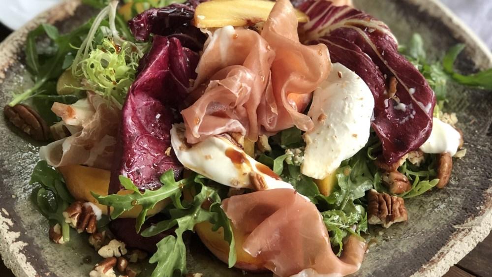 Summer Peach, Prosciutto & Buffalo Mozzarella Salad
