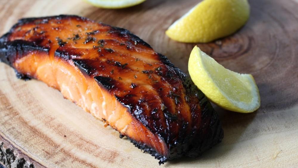 Image of Baked Marinated Salmon