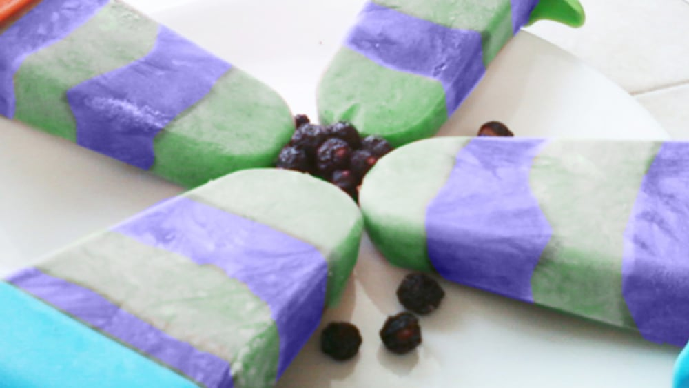 Image of SuperMint & Blueberry Kefir Ice Cream Protein Bars
