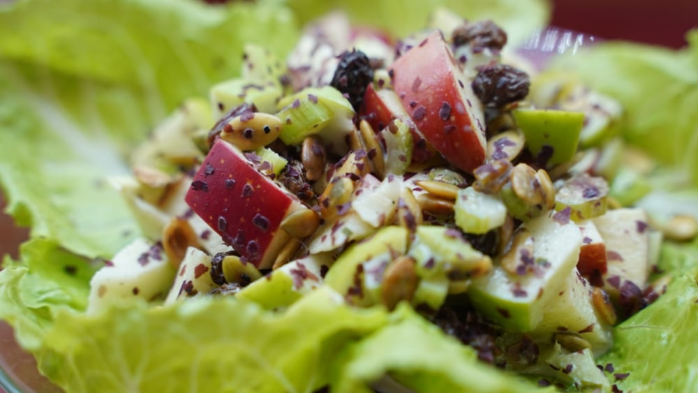 Waldorf salad with dulse
