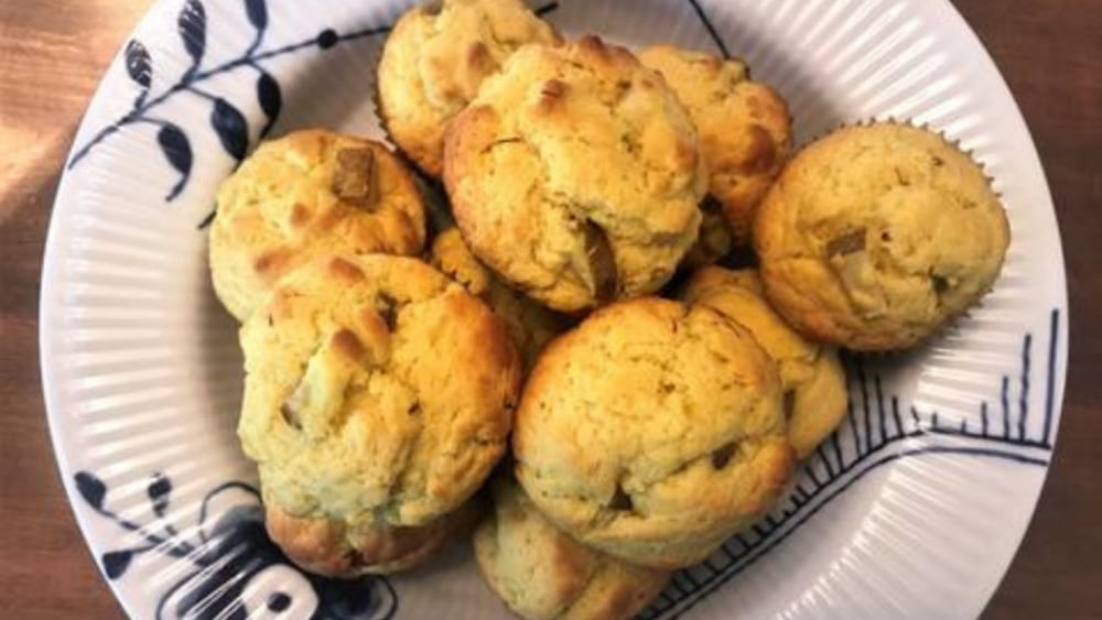 Image of Brown Butter Pear Saffron Muffins