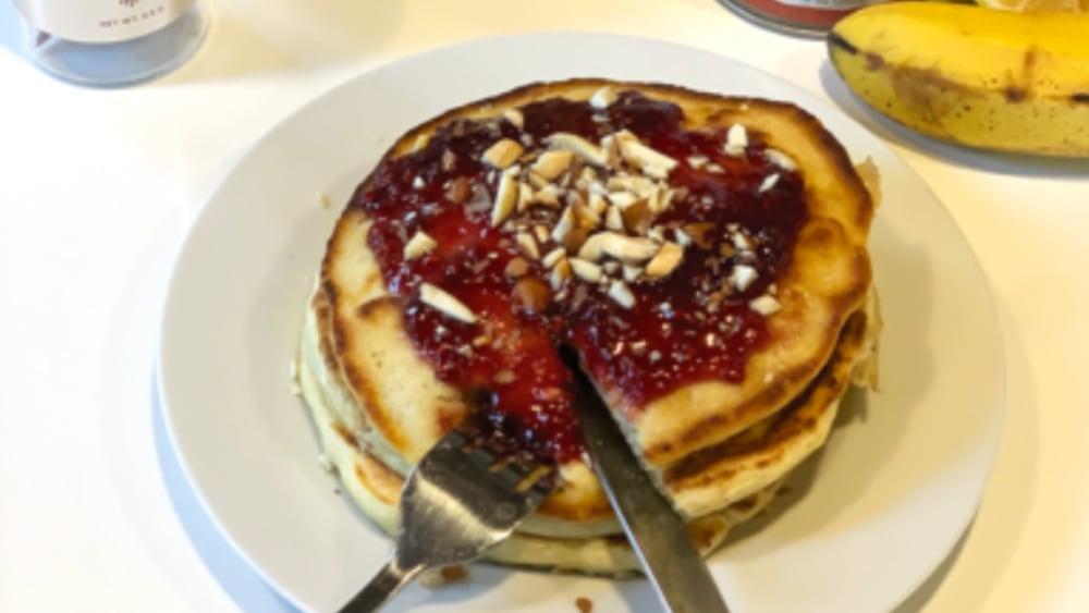 Image of Banana Saffron Pancakes