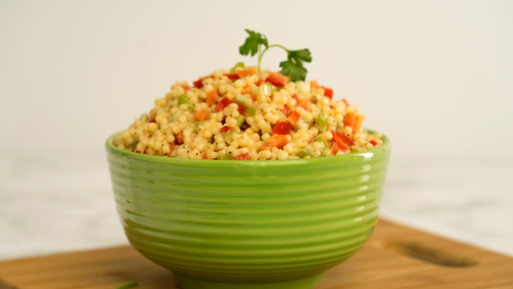 Image of Couscous Salad with Creamy Roasted Garlic Dressing