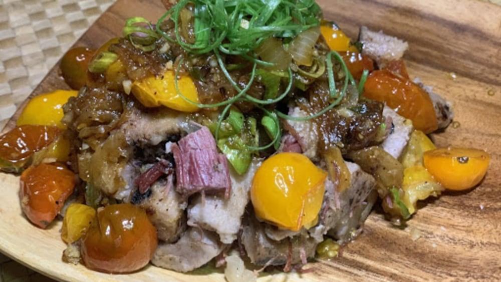 Corned Beef Brisket & Kalo Hash with Heirloom Tomato Relish