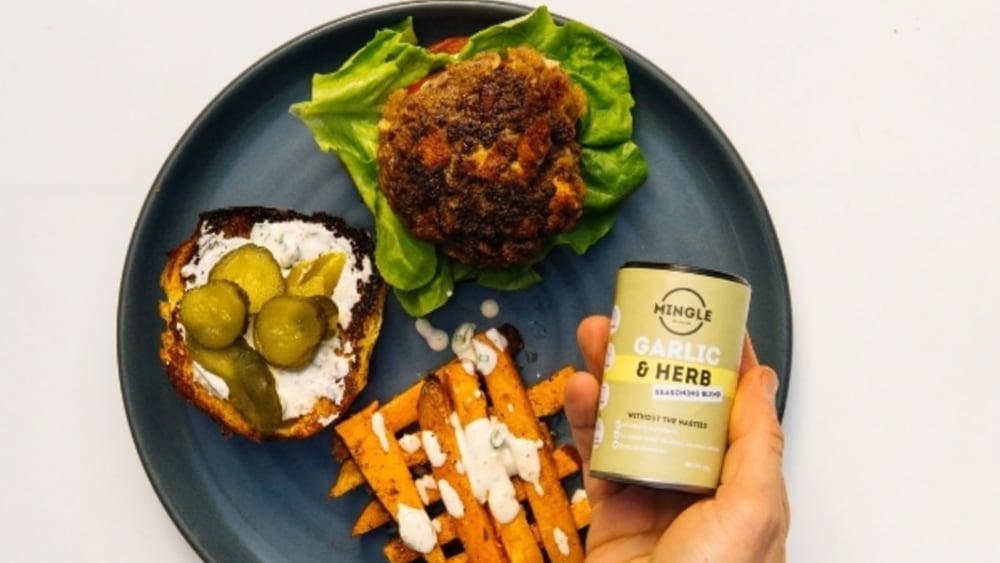 Image of Mingle's Halloumi Burger & Sweet Potato Fries