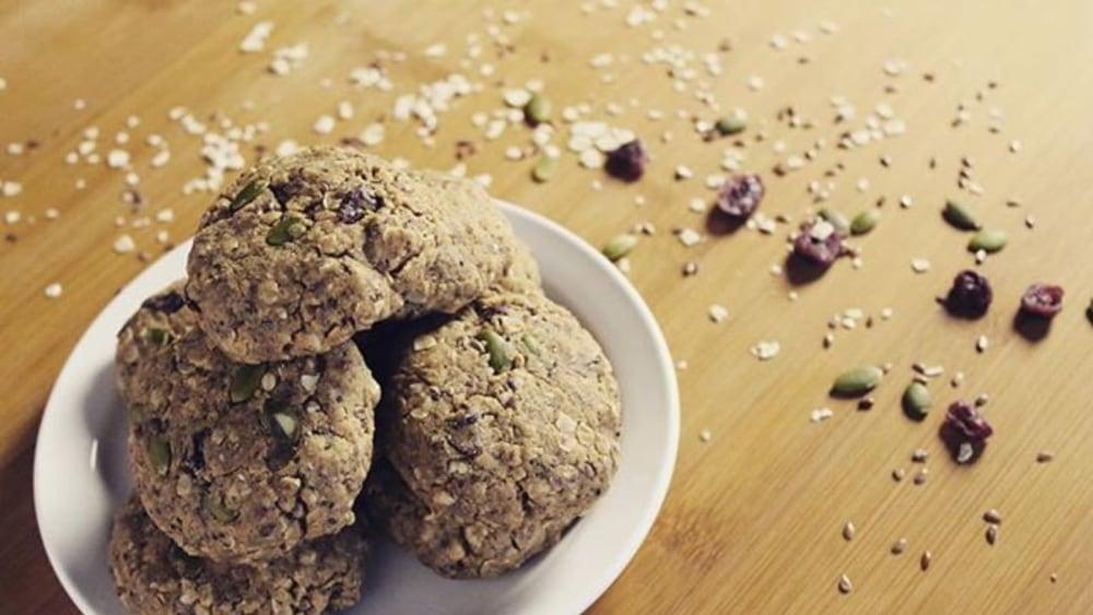 peanut butter vegan protein cookies